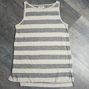 [Madewell] Striped High Low tank